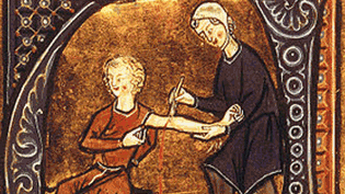 an image of a painting depicting blood letting