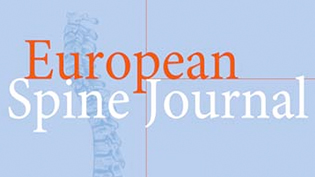 a section of a front cover of the European Spine Journal