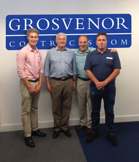 an image of Simon Hughes MP visiting Grosvenor Contracts