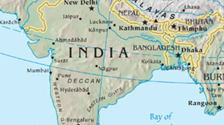 an image of a map of India