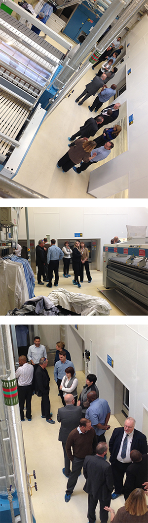 an image of visitors touring the laundry