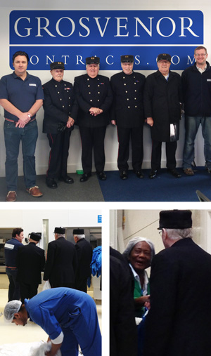 an image of Chelsea Pensionerts visiting Grosvenor Contacts