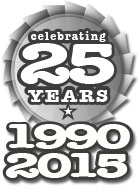 an image of our 25th anniversary icon