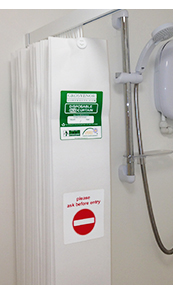 an image of a Grosvenor Contracts Disposable Shower Curtain