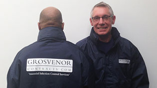 Two Grosvenor fitters show off their new work jackets