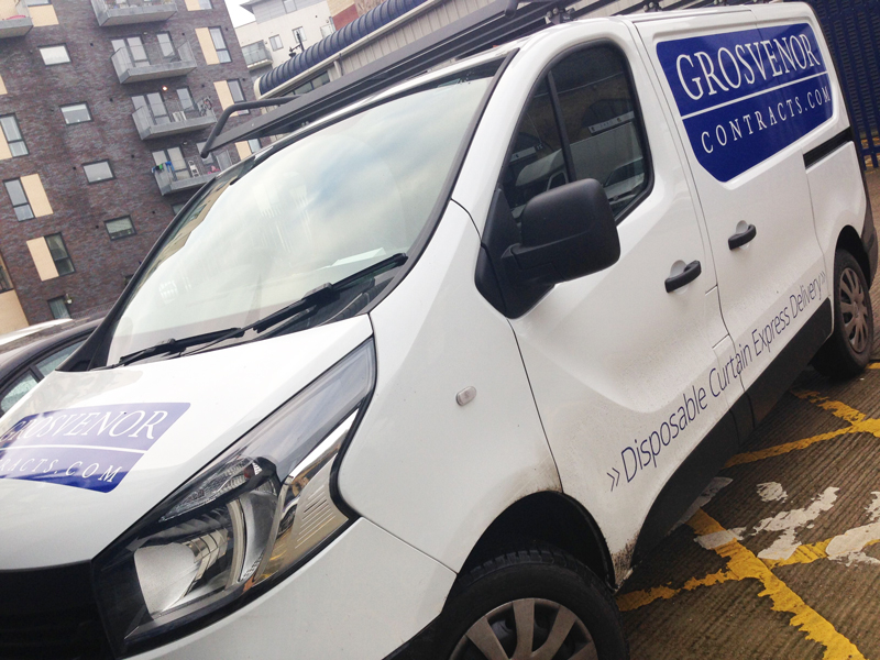 an image of our new Renault Trafic with fresh Grosvenor graphics