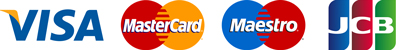 an image of VISA, Master Card, Maestro and JCB logos