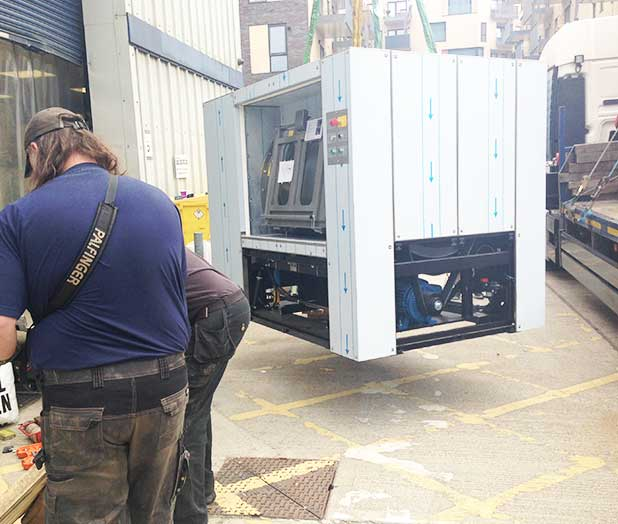 an image of our new washing machine being delivered