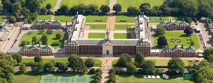 An arial view of The Royal Hospital Chelsea (RHC)