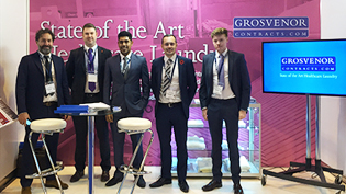 an image of The Grosvenor Contracts stand at The Care & Dementia Show, NEC
